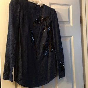 Carven Blue sequined Blouse
